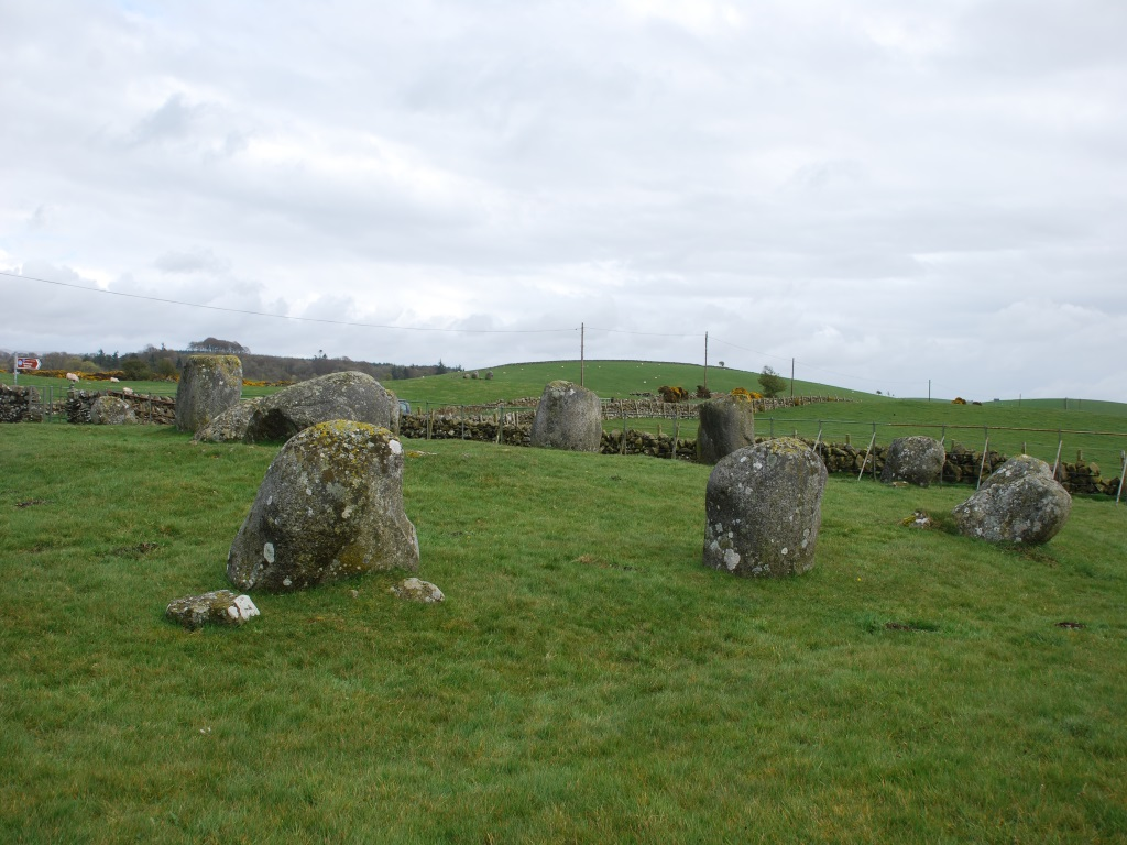 torhouse stone circle looking towards east alignment