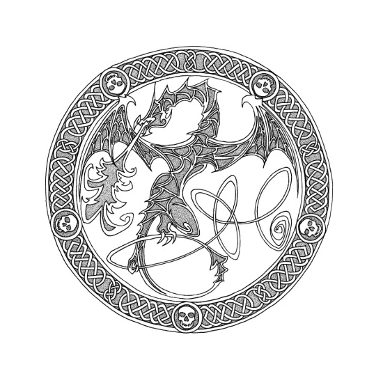 dragon 2 - border and dragon dots tn